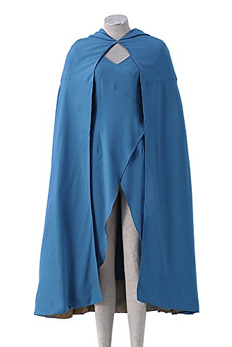 [Game of Thrones V1Blue Cloak / Outfit for Queen of Meereen Daenerys Targaryen] (Female Video Game Costumes)