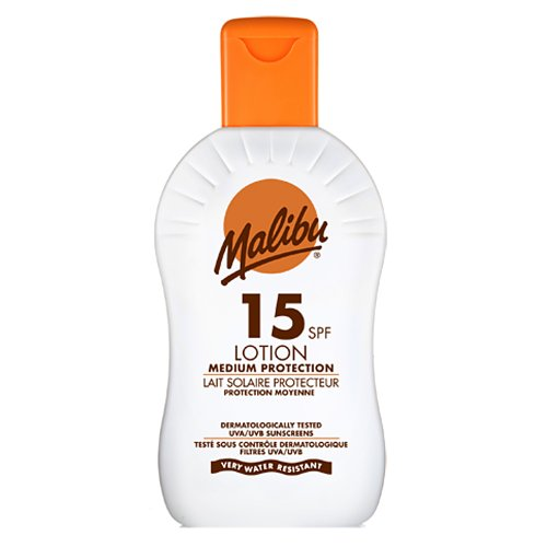 Malibu High Protection Lotion UVA/UVB Sunscreen SPF15 200 ml