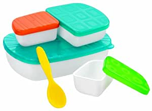 Sassy Baby Mealtime On the Go Feeding Set, Colors May Vary (Discontinued by Manufacturer)
