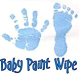 Baby Hand Print Footprint Paint Wipe Kit Blue