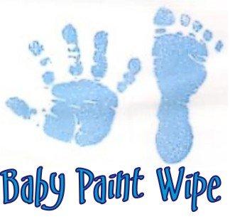 Baby Hand Print Footprint Paint Wipe Kit Blue