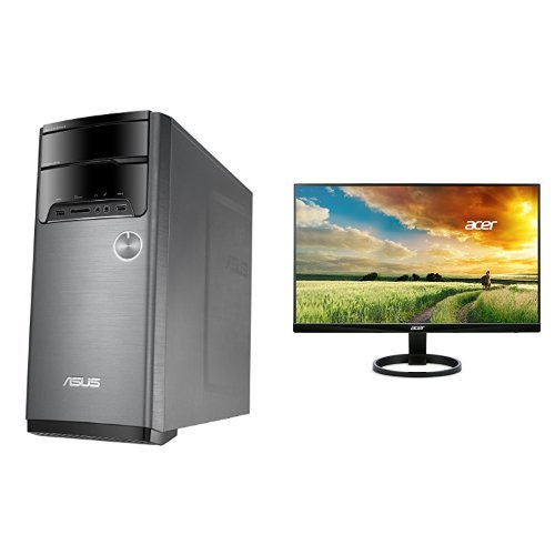 ASUS M32AD Desktop (Core i3, 8GB, 1TB, Windows 10) with Keyboard, Mouse and Acer 23.8