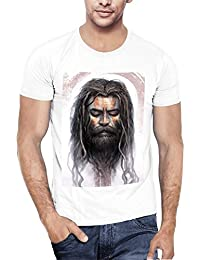 WYO Graphic Print Round Neck Half Sleeves Spiritual T Shirt For Men