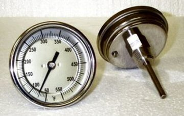 3 Inch Stainless Steel BBQ Grill Thermometer