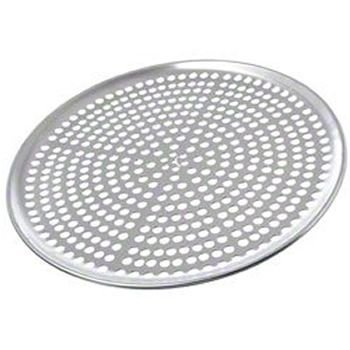 "Browne (575352) 12"" Perforated Aluminum Pizza Tray"
