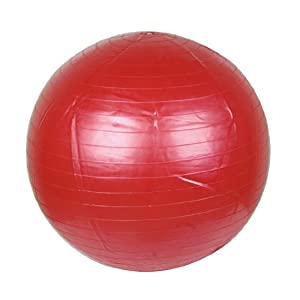 Como 45cm Dia Red Rubber Massage Body Exercise Fitness Ball