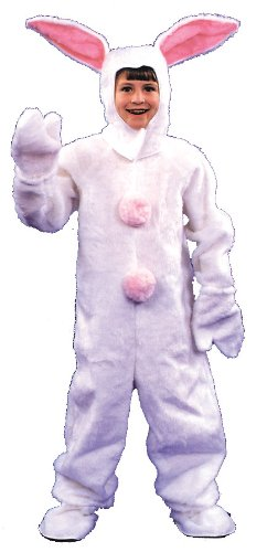 Costumes For All Occasions AD18 Bunny Suit Child 6 8 White