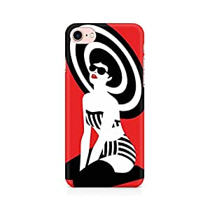 PRINTASTIC Beach Girl Premium Printed Mobile Back Case Cover For Apple iPhone 7