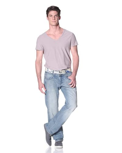 Desigual Men's Relaxed Fit Jeans with Contrast Waistband