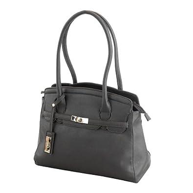 More4bagz femmes de dames Designer Style Quilted College School Sac style sacoche à bandoulière Carry Bag (Noir)