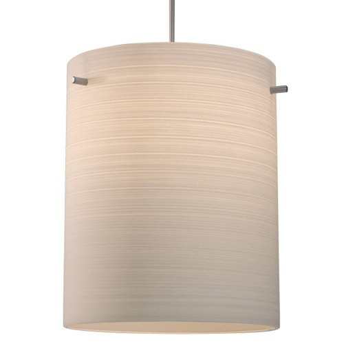 "Regal 1 Light Led Mini Pendant Size: 4"" With Junction Box, Finish: Bronze, Shade Color: White Texture"