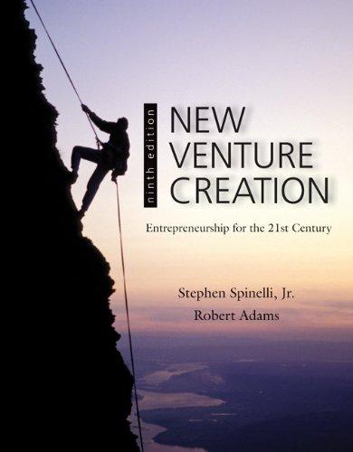 New Venture Creation: Entrepreneurship for the