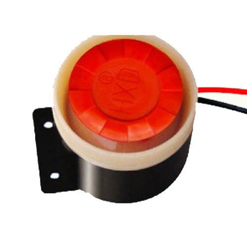 Generic Pack Of 24Pcs Active Piezo Buzzer Alarm 12V Sounder Speaker Buzzer Horn Dc12V 120Db 12W Sound Black & Red Case