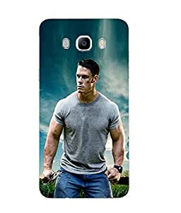 Case Cover John Cena Printed Blue Soft Silicon Back Cover For Samsung Galaxy J7 2016