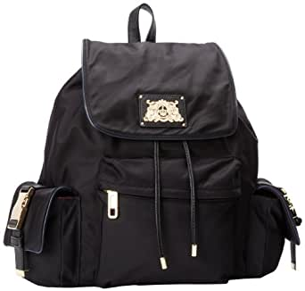 Juicy Couture Penny Nylon Backpack YHRU3714 Backpack,BLACK,One Size