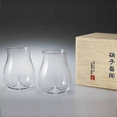 松徳硝子 うすはり 大吟醸 (木箱入り) 2個セット(3021020)