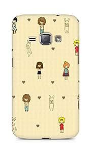 Amez designer printed 3d premium high quality back case cover for Samsung Galaxy J1 (2016 EDITION) (Cute Cartoon 2)