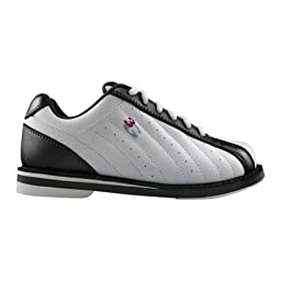 3G Mens Kicks Bowling Shoes (11 1/2 M US, White/Black)