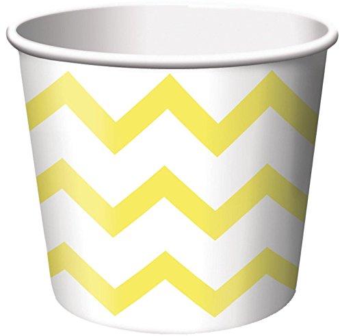 Chevron Stripe Treat Cups - Yellow (6) - 1