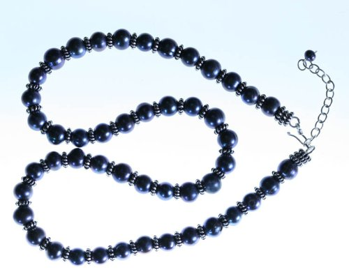 Freshwater Pearl Necklace- Black Pearls