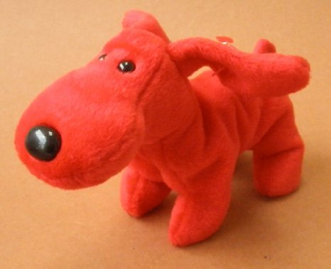 TY Beanie Babies Rover the Red Dog Plush Toy Stuffed Animal - 1