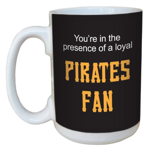 Tree-Free Greetings lm44098 Pirates Baseball Fan Ceramic Mug with Full-Sized Handle, 15-Ounce