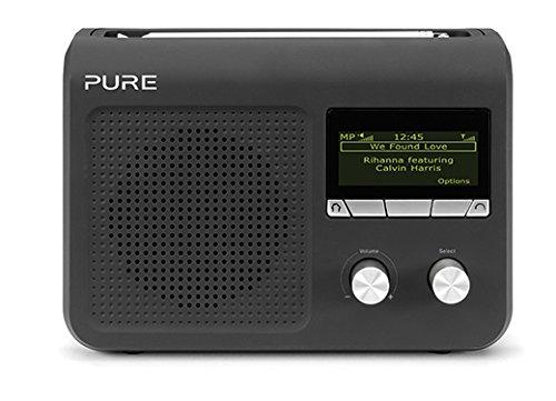 PURE One Flow Tragbares Internetradio (DAB/DAB+/UKW, W-LAN) schwarz