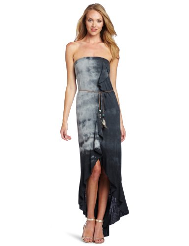 Woodleigh Women's Ruffle Long Dress, Smoke Tie Dye, Medium