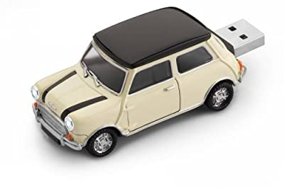 Mini Cooper White Car USB Flash Memory Drive 2Gb by Redismo