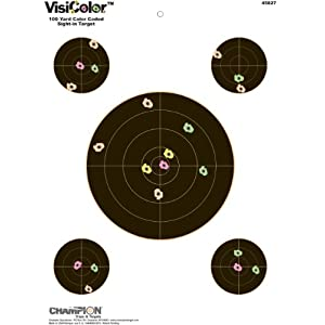Champion VisiColor Sight-In Target with 4 Extra Bulls