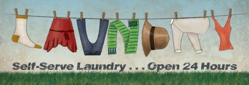 Clothing Line Posters Cute Clothes Line Laundry Word