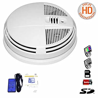 DAY & NIGHT VISION HIGH DEFINITION HD 1280x720 SMOKE DETECTOR DVR HIDDEN SPY CAMERA UP TO 64GB - SIDE VIEW