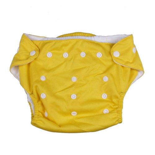C-Princess全七色 オールシーズン ポケット式メッシュ素材で  ワンサイズ布おむつカバー 新生児~オムツ卒業まで イエロー