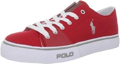 Polo Ralph Lauren Men's Cantor Low Sneaker, Red, 7 D US