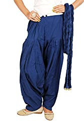 Rama Womens Cotton Patiyala & Duppatta (14RAMA14215724_Royal Blue)
