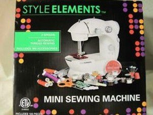 Style Elements Mini Sewing Machine with 100 Accessories by Style Elements