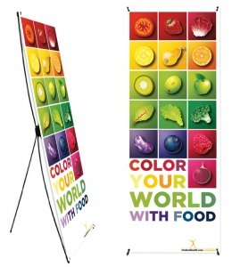 Color Your World With Food Banner Stand 24 X 62 - Wellness Fair Banner 24 X 62 lego education 9689 простые механизмы