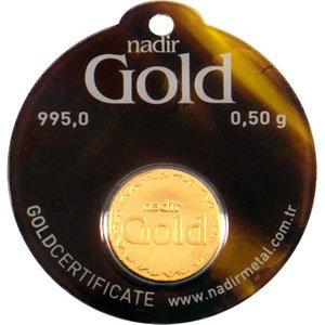 Goldbarren rund Goldmünze 0,5 g 0,5g Gramm Nadir Gold LBMA-zertifiziert