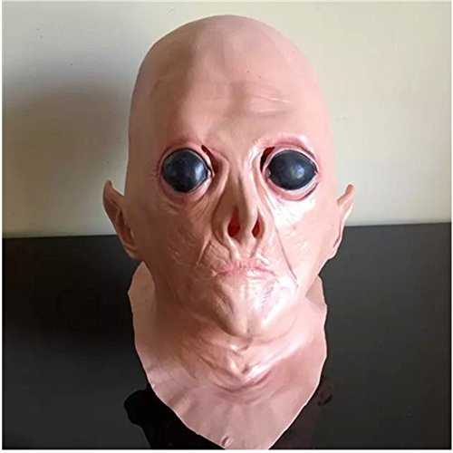UFO Alien Creepy Latex Big Eyes Mask for Cosplay Holloween Party