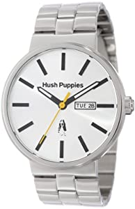 Hush Puppies Orbz Men's Automatic Watch with Silver Dial Analogue Display and Silver Stainless Steel Bracelet HP.3792M.1522