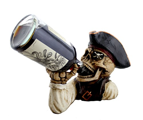 Skeleton Pirate Wine or Rum Bottle Holder