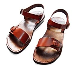 Jerusalem Style II - Camel Shoemaker Unisex Outdoor Leather Biblical (Jesus - Yashua) - Sandals from the Holy Land