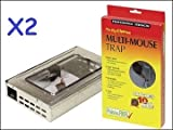 2x STV THE BIG CHEESE HUMANE MULTI CATCH LIVE MOUSE TRAP