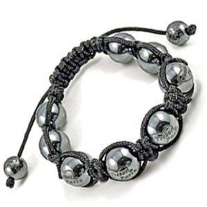 Utopia Black Grey Magnetite Balls Bracelet