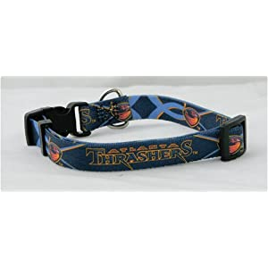 Atlanta Thrashers NHL Pet Collar Adjustable 5/8 Web (X-Small)