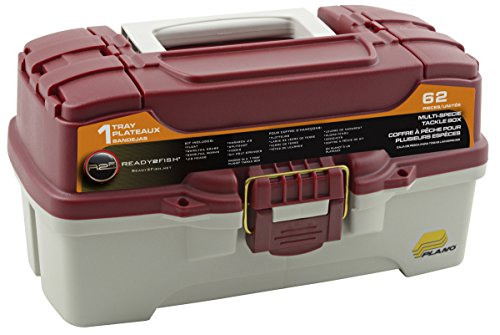 Ready 2 Fish One Tray Tackle Box, Red