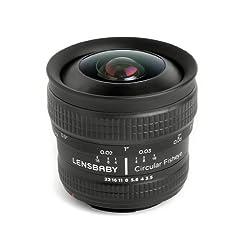 Lensbaby 5.8mm f/3.5 Circular Fisheye Lens for Nikon F