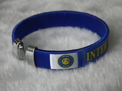 inter fc futbol football soccer badge logo wristband bracelet