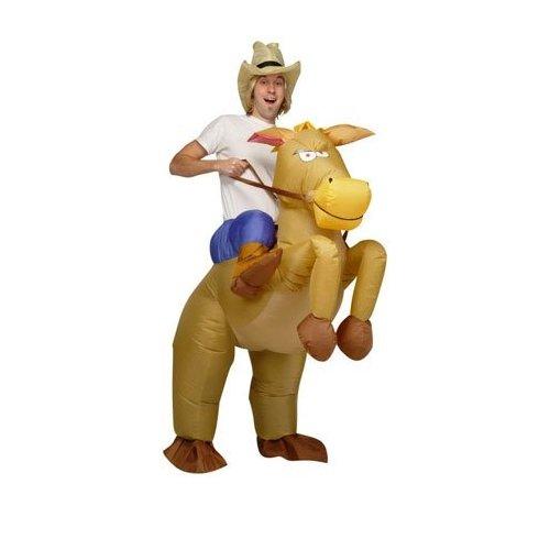 Aufblasbares Kostüm Pferd und Cowboy Fasching Karneval