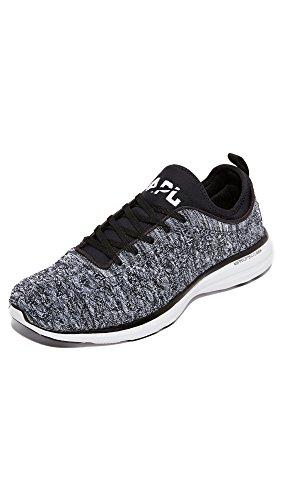 APL: Athletic Propulsion Labs Men's TechLoom Phantom Running Sneakers, Black/White/Melange, 9.5 D(M) US